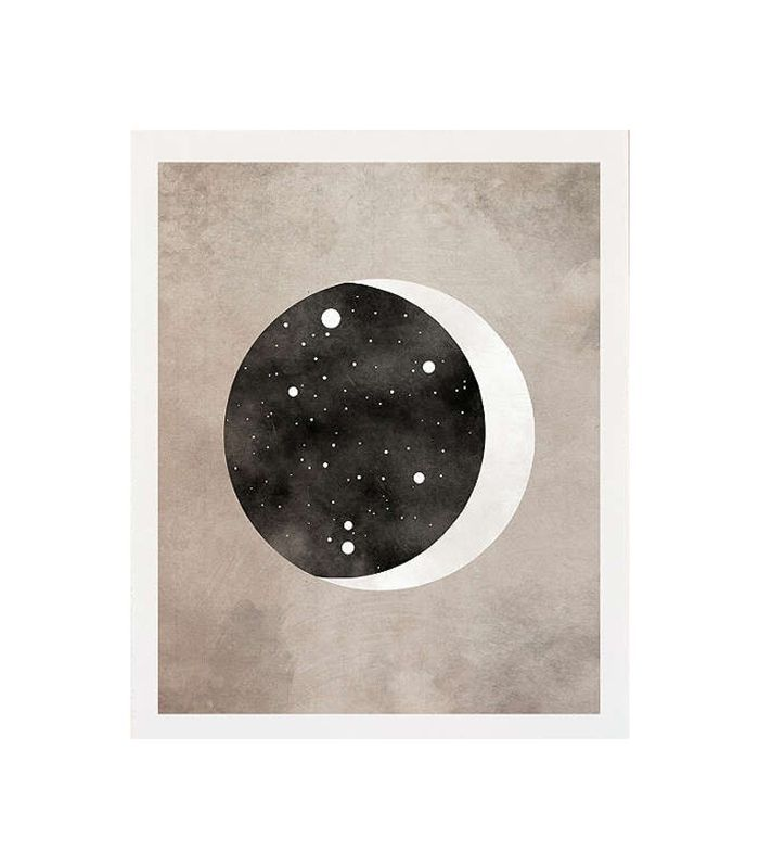 Moon & Stars Libra Art Print - Black One Size at Urban Outfitters