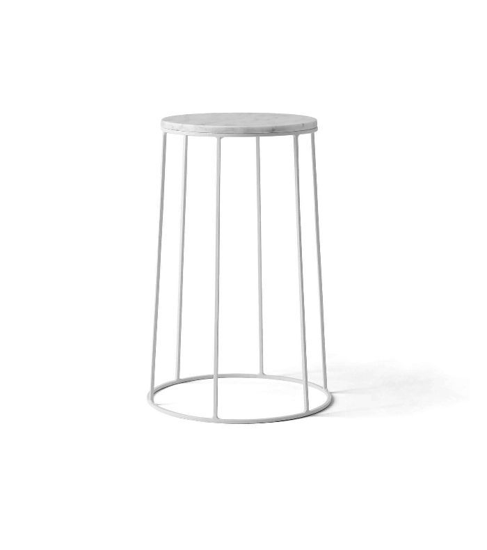 Menu A/S Wire Series Marble Top Side Table Stand