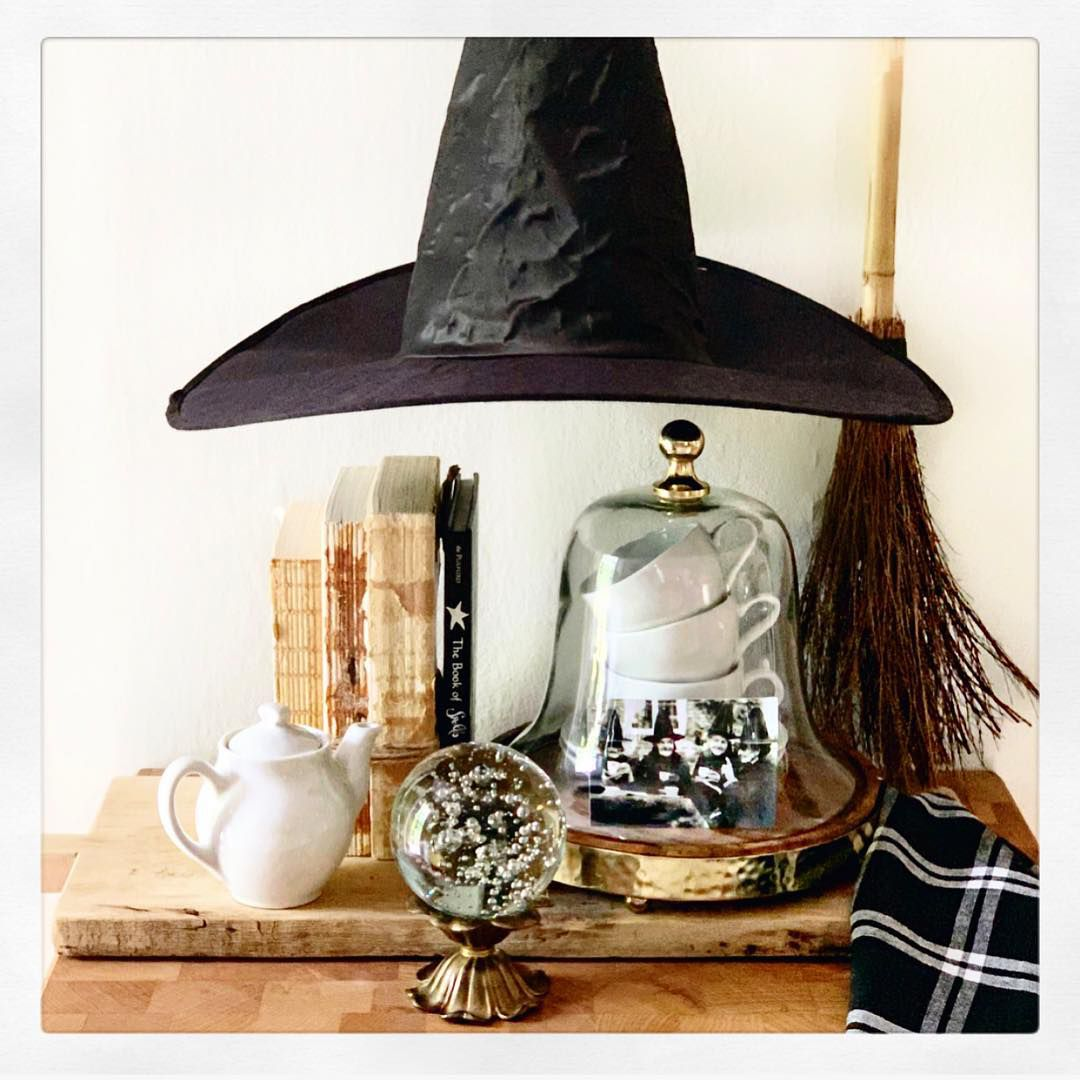 Floating witch hat