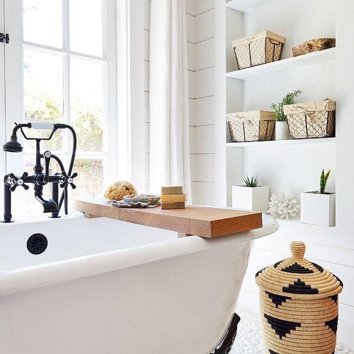 an organized bathroom