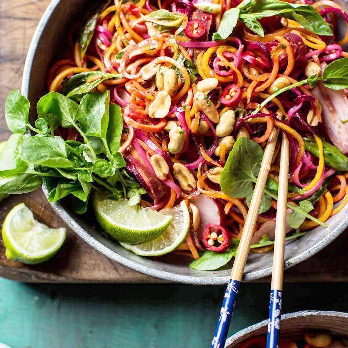 pad recetas veganas crudas tailandesas