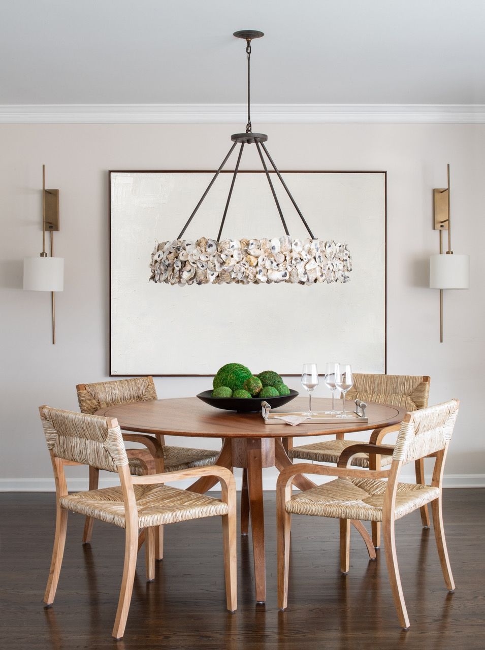Liz Mearns home tour - dining table with chairs