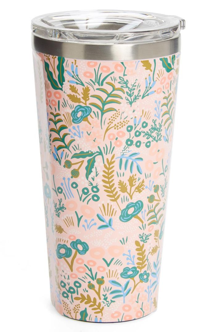 X Rifle Paper Co. Tapestry Insulated 16-Ounce Stainless Steel Tumbler Travel Delay Protection