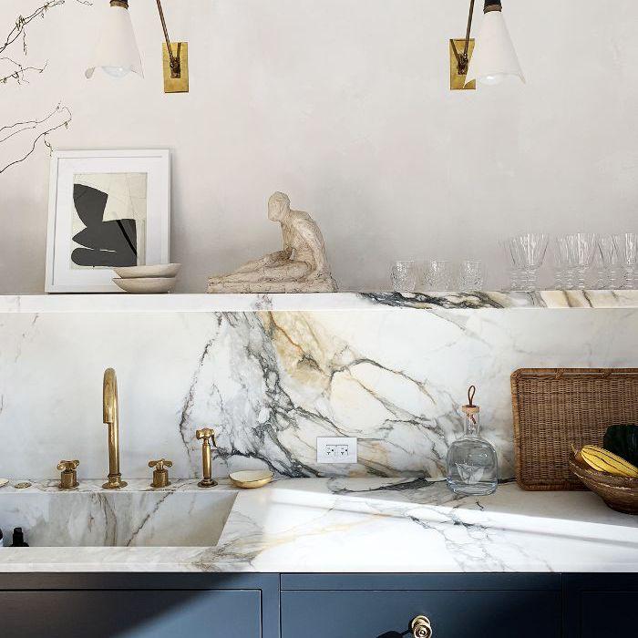 Marble floating shelf—Athena Calderone