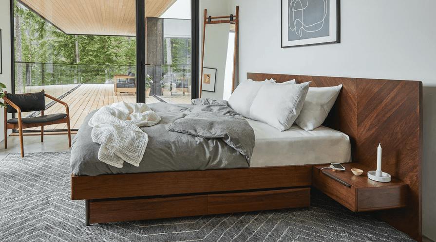 Article Nera Queen Bed with Nightstands