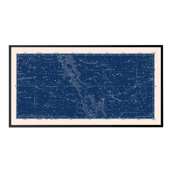Antique Large Nautical Blue Constellation Celestial Print