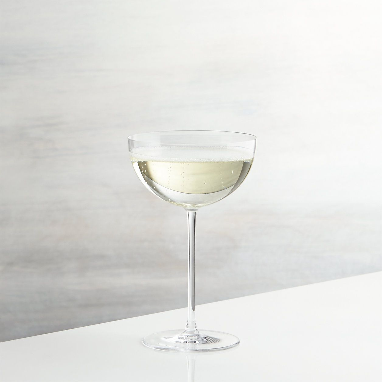 Crate & Barrel Camille Long Stem Champagne Coupe Glass