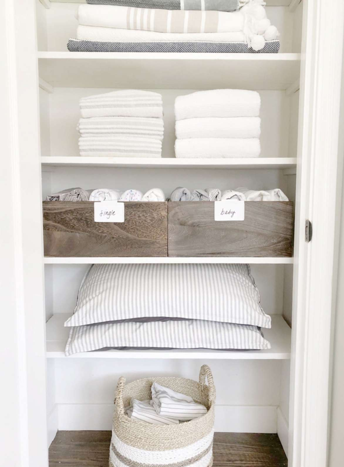 how to fold a fitted sheet linen closet
