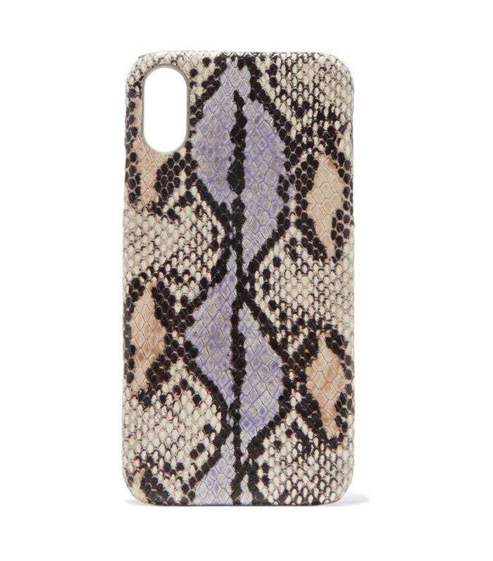 The Case Factory Snake-Effect Leather iPhone XR Case