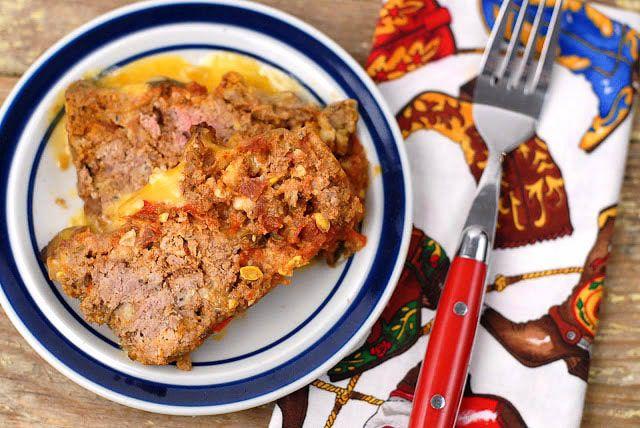 Pastel de carne de taco de carne molida mexicana