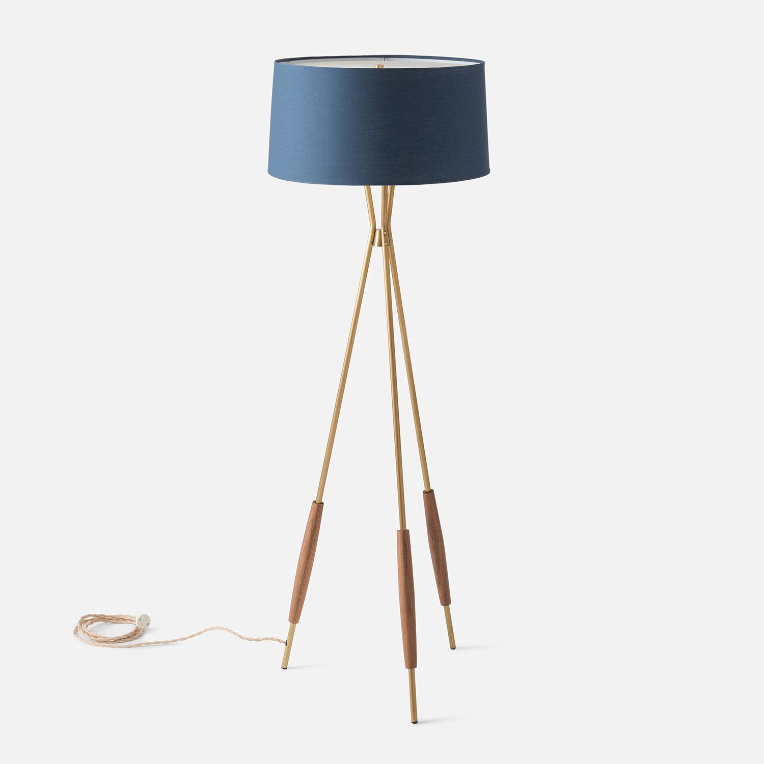 Schoolhouse Mulberry Tripod Floor Lamp
