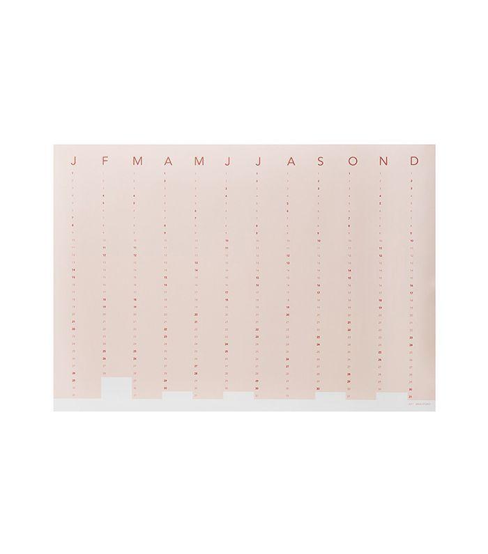 Column Wall Calendar 2017