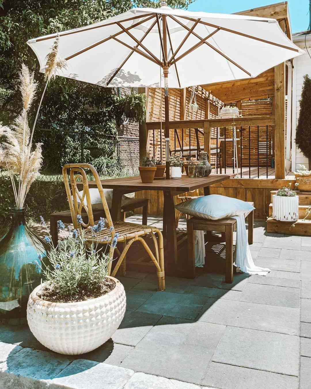 outdoor party ideas umbrella