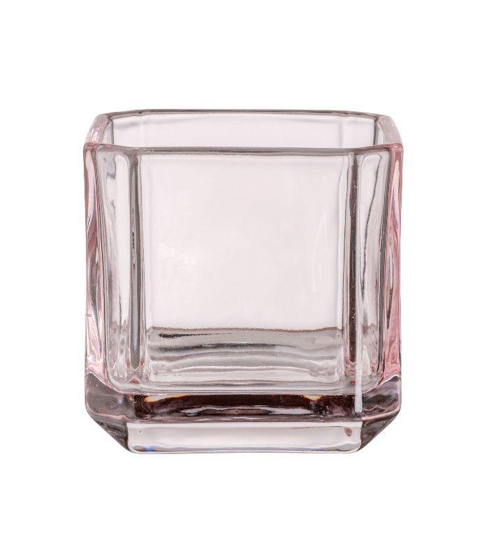 - Glass Tea Light Holder - Pink - H & m Home