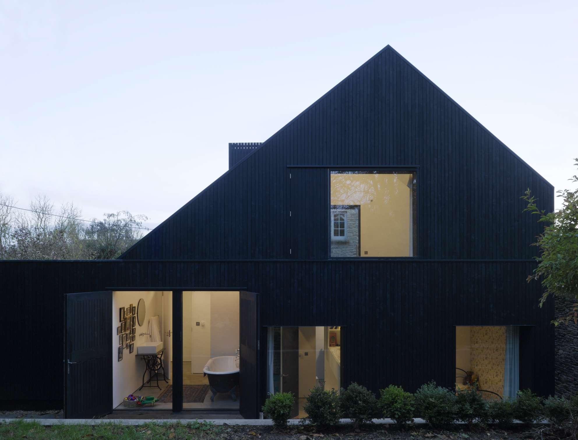 modern saltbox style home
