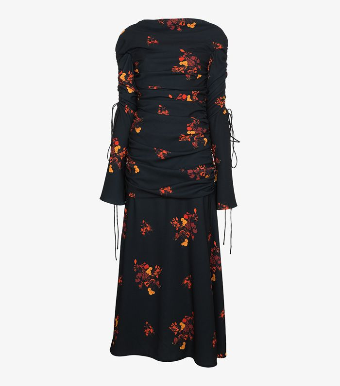 Ellery Fitted Floral Dress