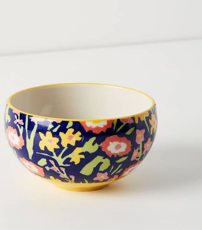 Anthropologie Painted Poppies Bowl