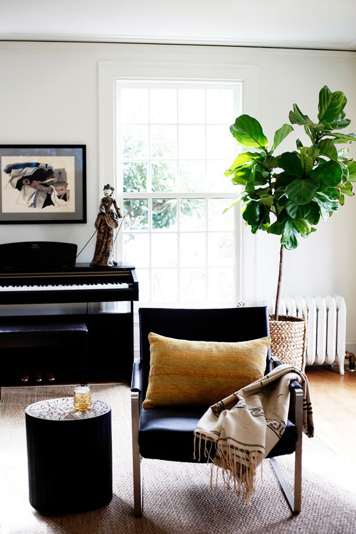 living room in renovated Seattle home