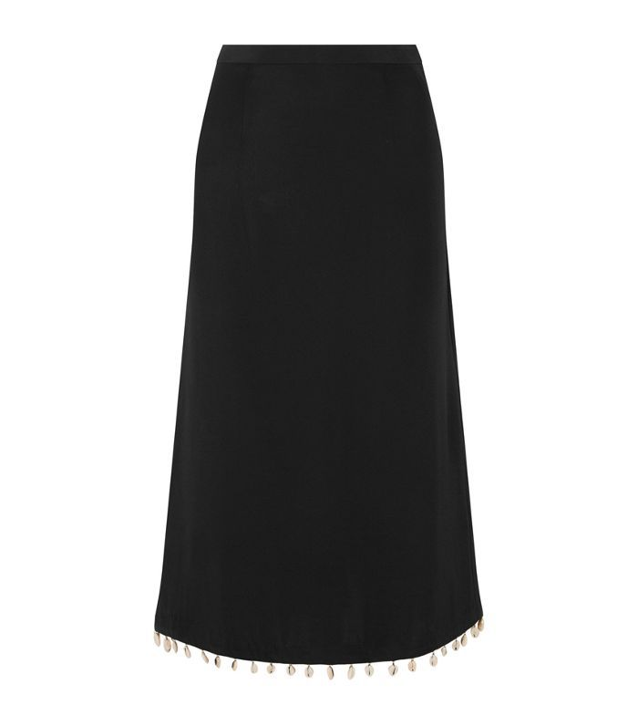 Simon Shell-embellished Cady Midi Skirt