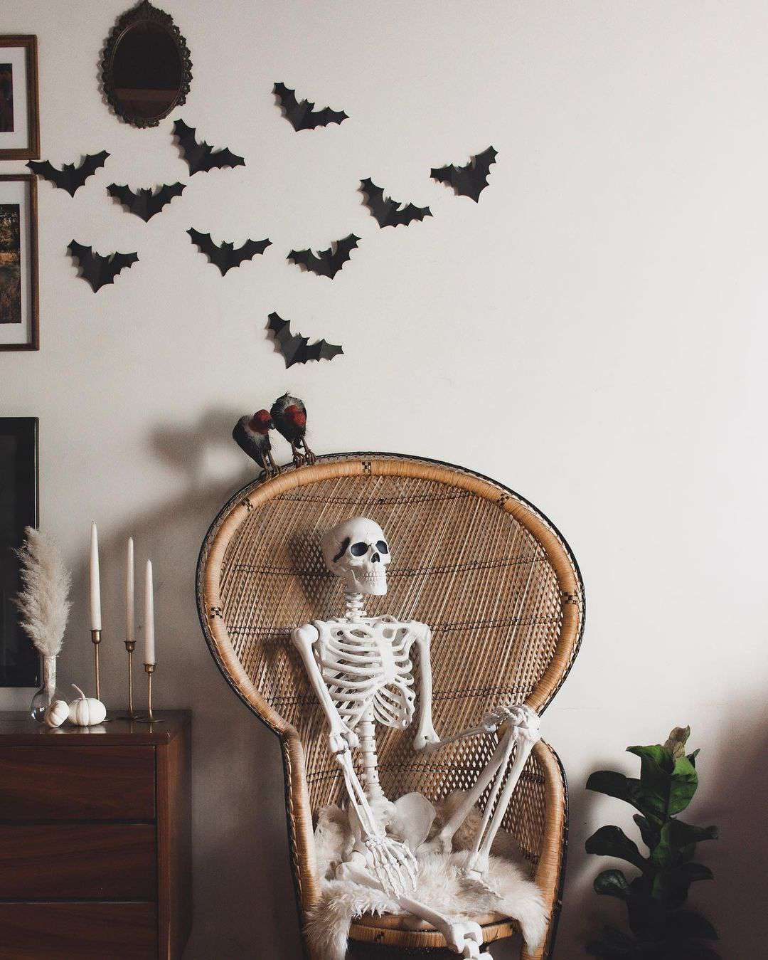 Chair with a skeleton
