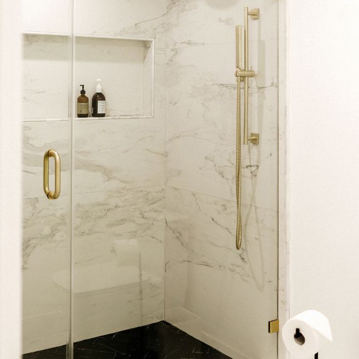 Chriselle Lim—Marble shower design