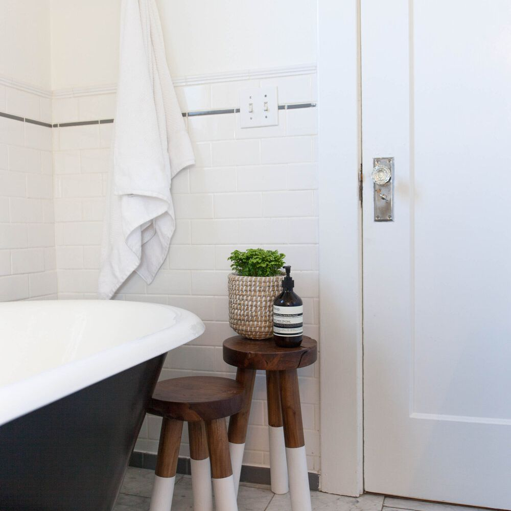 Bathroom with stools.