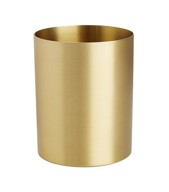 CB2 Solid Brass Studio Pencil Cup