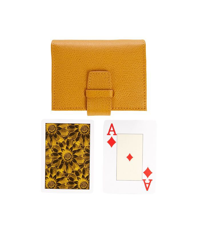 Thomas Lyte Grained-leather case card set