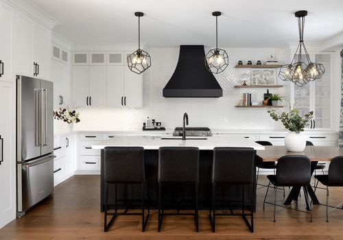 Black kitchen fixtures