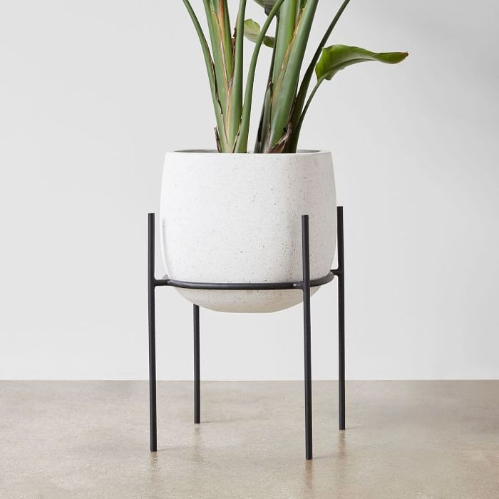 West Elm Stratus Small Tall Standing Planter