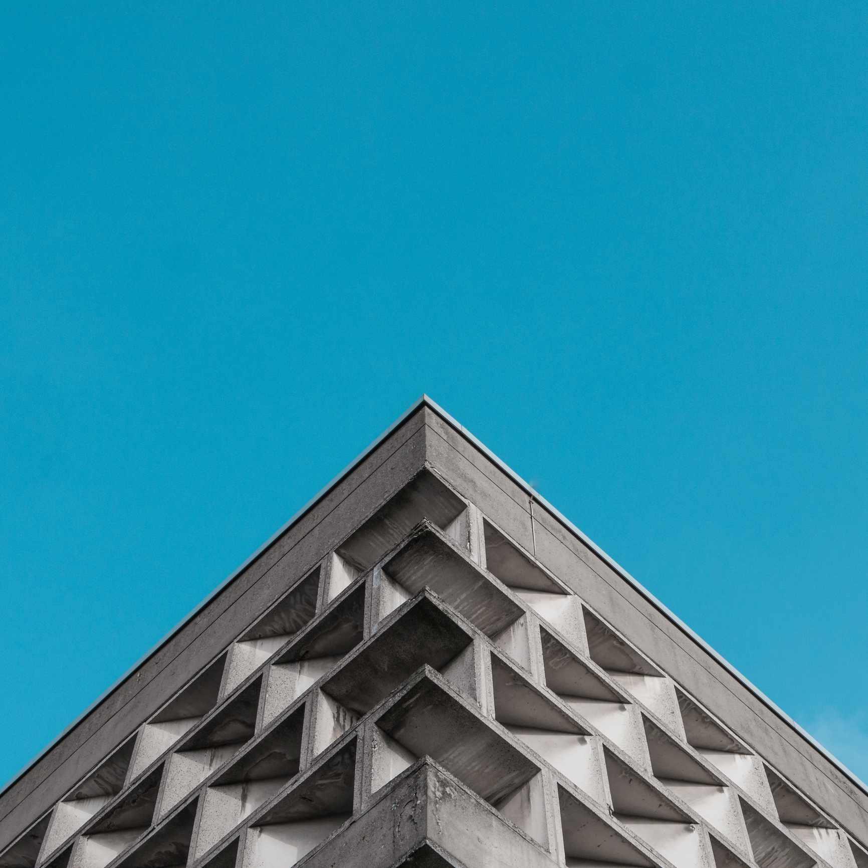 Brutalist building in Cologne, Germany