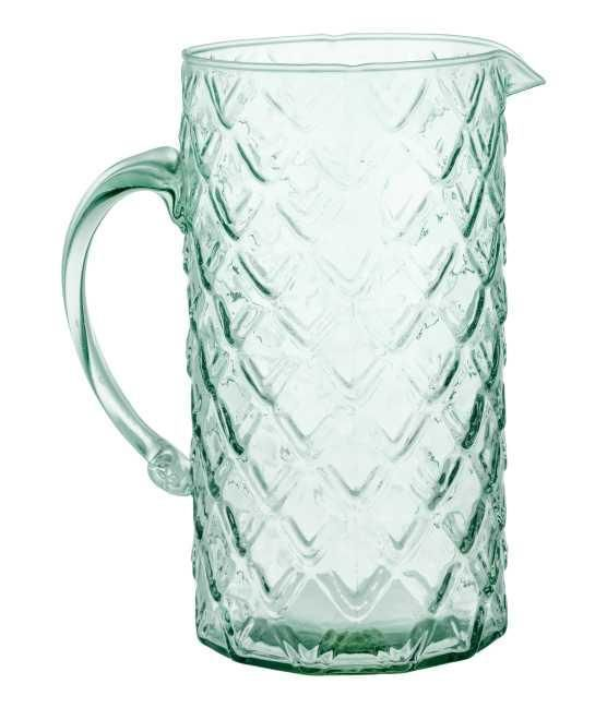 Texture-patterned Glass Jug