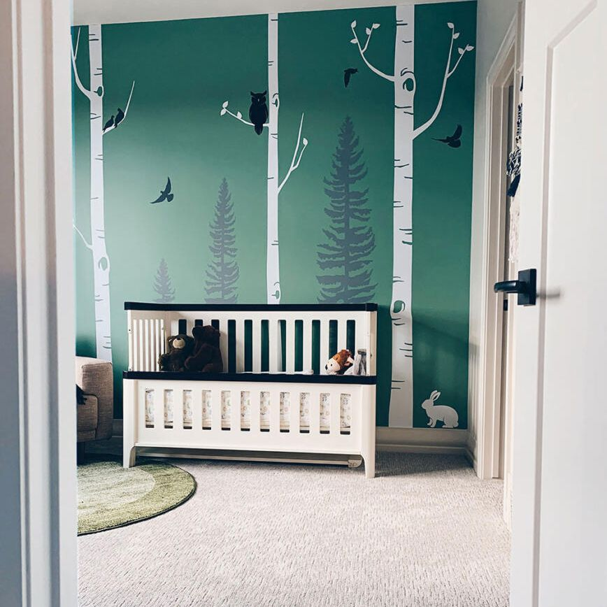 Forest motif in nursery