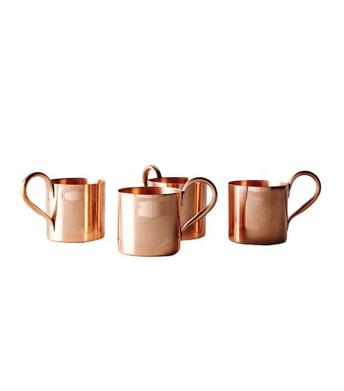 Cocktail Kingdom Copper Moscow Mule Mugs