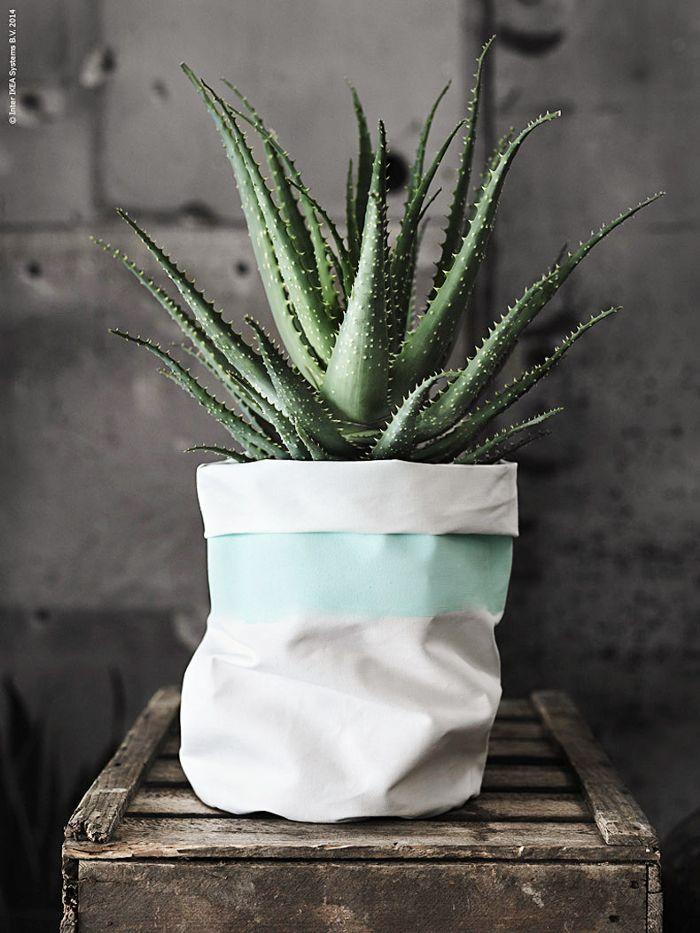Striped Textile Pots