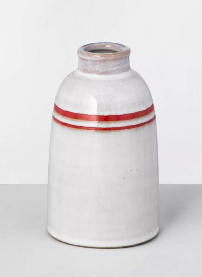 Hearth and Hand Magnolia Red-Sour Cream Vase