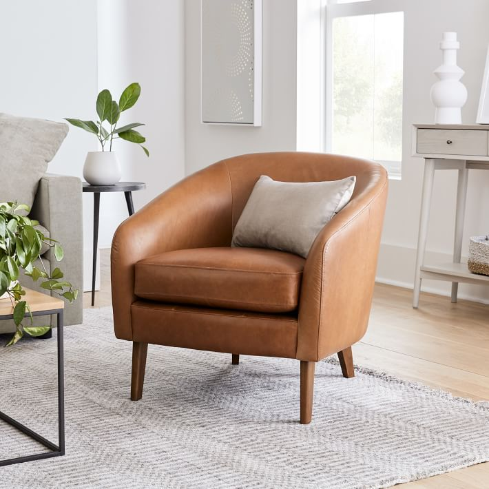 West Elm Jonah Leather Chair