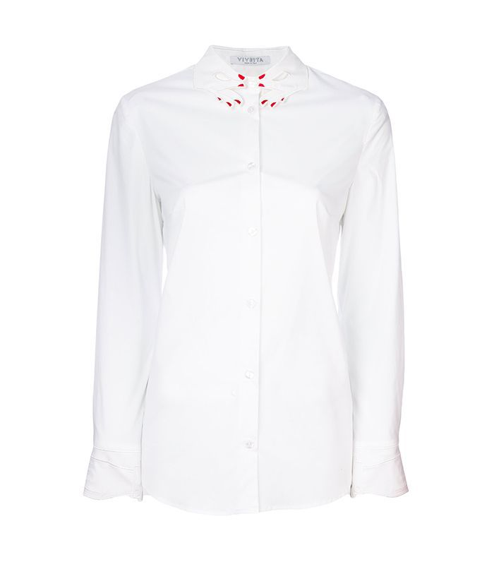 Vivetta Embroidered Collar Shirt