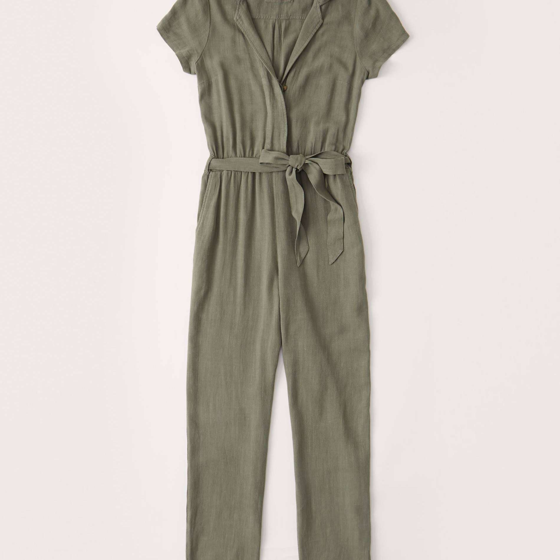 Abercrombie short sleeved collared jumpsuit