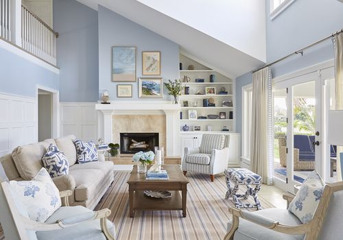 Libby Langdon living room makeover of the week - beach house