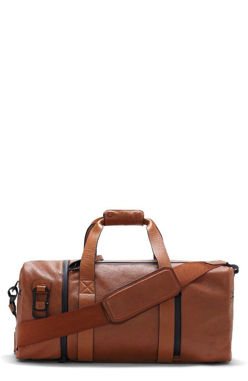 'Mestr' Leather & Suede Duffel Bag - Brown Travel duffel bags