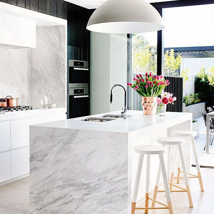 The Best 30 Marble Kitchen Design Ideas To Try Now