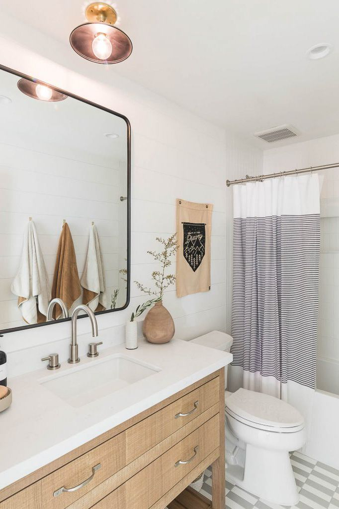 bathroom with neutral details