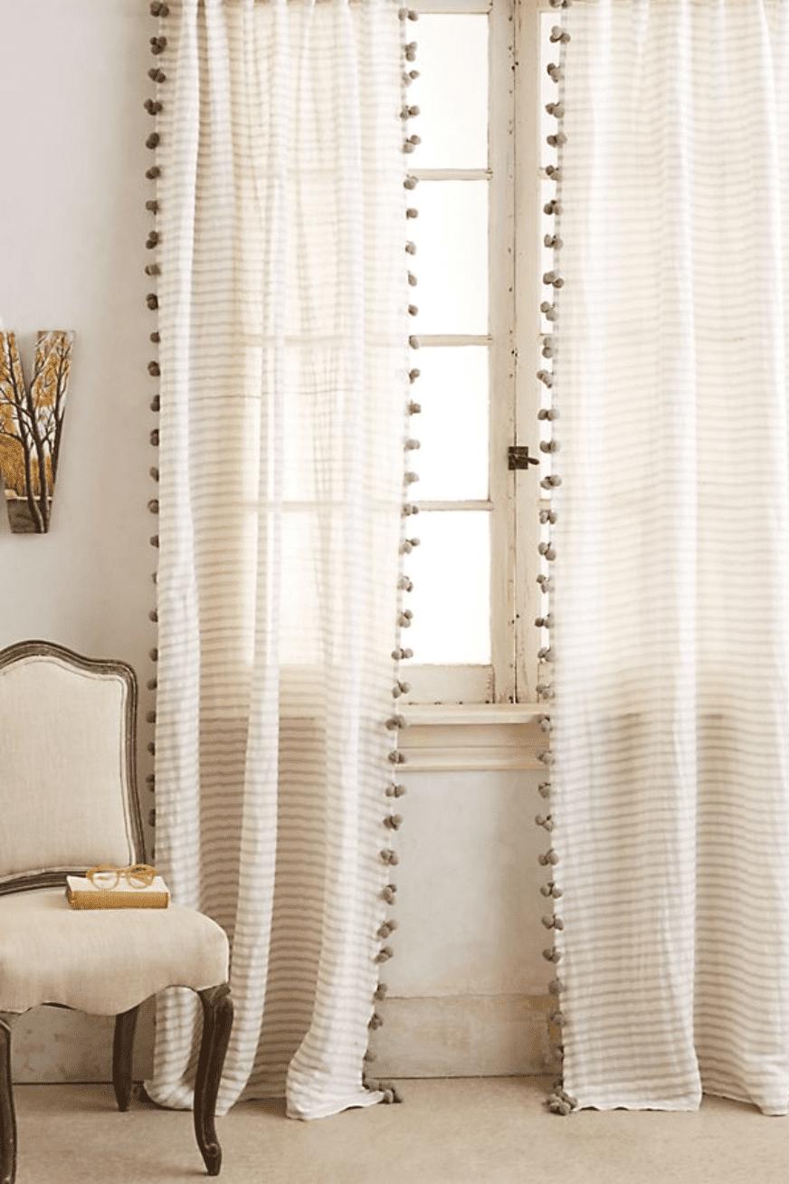 embellished curtains