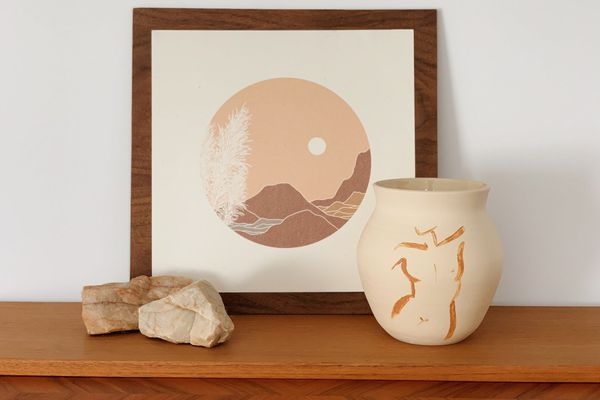Woman Figure Ceramic Vase