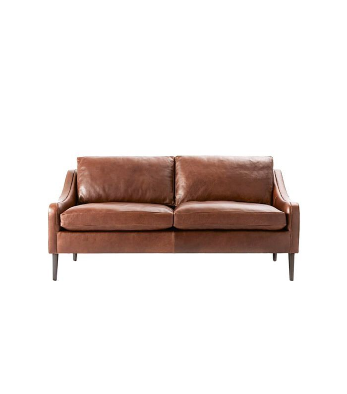 West Elm Lindrum Leather Sofa 1599
