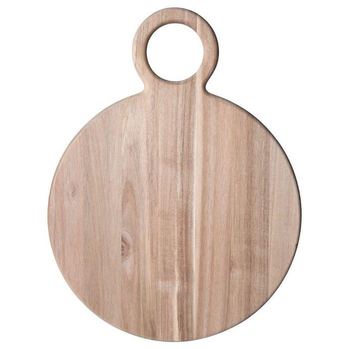 Pfaltzgraff Natural Round Acacia Wood Cheese Board
