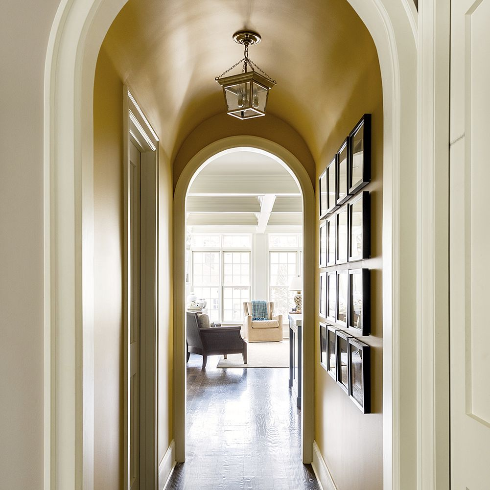 hallway with gallery wall photos