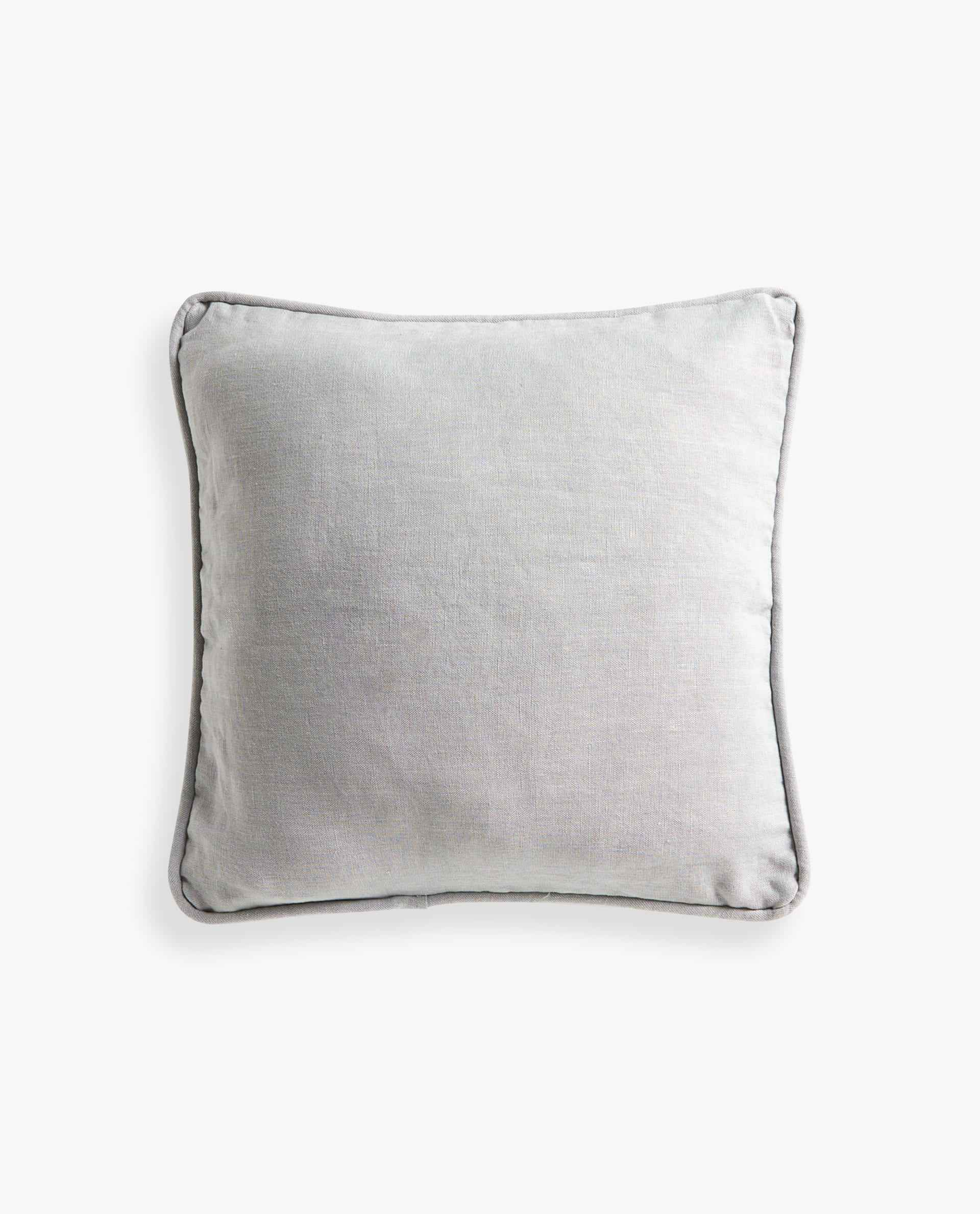 Linen Throw Pillow with Piping