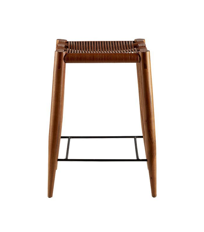 Nahla Saddle Leather Counter Stool 24